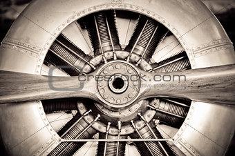 antique aircraft engine