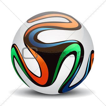 Official ball 2014. Soccer ball.