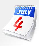 July 4 calnedar