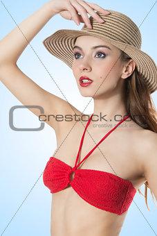 portrait of summer woman