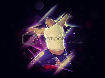 Abstract background with jumper