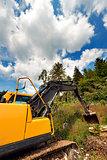 Yellow and Black Excavator Machine