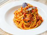 Bucatini Pomodoro (Tomato Sauce)