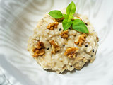 Risotto with nuts.