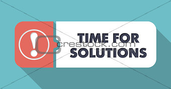 Time For Solutions on Blue in Flat Design.