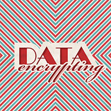 Data Encrypting. Retro Design Concept.