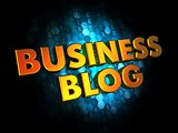 Business Blog - Gold 3D Words.