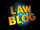 Law Blog - Gold 3D Words.
