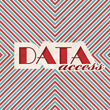 Data Access. Retro Design Concept.