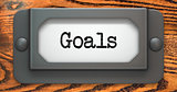 Goals - Concept on Label Holder.