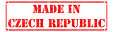 Made in Czech Republic - inscription on Red Rubber Stamp.