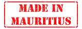 Made in Mauritius - inscription on Red Rubber Stamp.