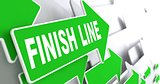 Finish Line on Green Direction Sign.