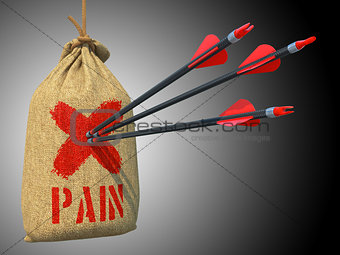 Pain - Arrows Hit in Red Mark Target.