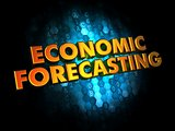 Economic Forecasting - Gold 3D Words.