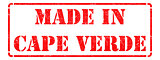 Made in Cape Verde - inscription on Red Rubber Stamp.