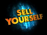 Sell Yourself - Gold 3D Words.