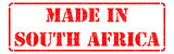 Made in South Africa - inscription on Red Rubber Stamp.
