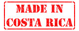 Made in Costa Rica - inscription on Red Rubber Stamp.