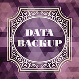 Data Backup Concept. Vintage design.