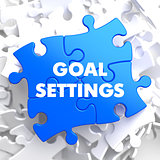 Goal Settings on Blue Puzzle.