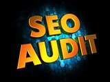 Seo Audit - Gold 3D Words.