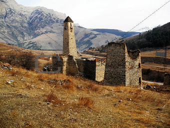 Towers Of Ingushetia. Ancient Architecture And Ruins