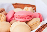 macaroons with various fruit fillings