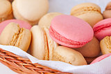 macaroons in a wicker basket