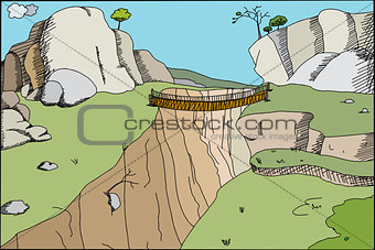 Footbridge in Canyon