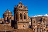 Cathedral and Society of Jesus Church Bell Towers Cuzco Peru
