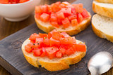 Italian bruschetta with tomatoes