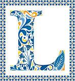 Blue letter L