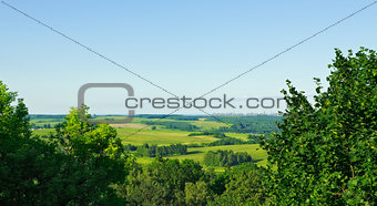 aerial view rural landscape