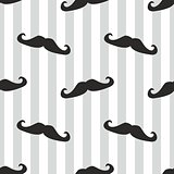 Tile vector mustache background