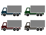 colorful delivery trucks