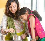Indian family cooking at home.