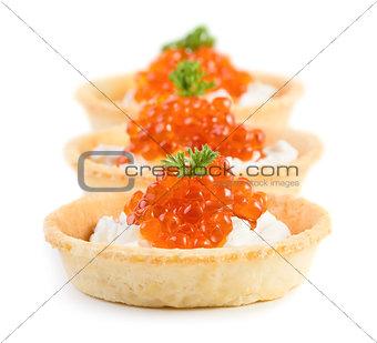 Caviar snacks