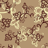 Brown Flower Pattern