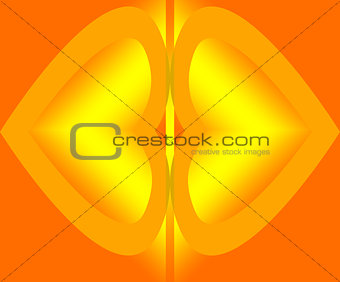 Abstract  brightly  glowing on brown background.