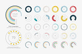 Infographic Elements.Pie chart set icon