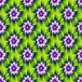 Seamless Blue and Violet Daisy Flower