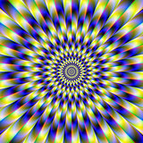 Concentric Rings in Blue and Yellow