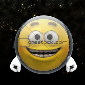 Astronaut smiley