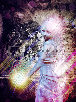 Grunge magic girl