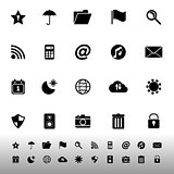 Tool bar icons on white background