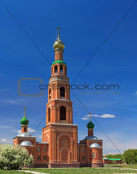 Achairsky monastery. Bell tower with pridelami Kirilla and Mefodiya.