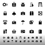 Home storage icons on white background