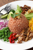 thai fried rice with shrimp paste, khao kluk kapi