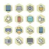 Thin Line Icons For Technology